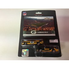 NFL Green Bay Packers ford Mustang and Dodge Charger 1:64 Scale Diecast Cars